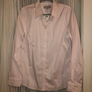 Light pink button down blouse